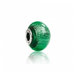 Tedora - Charm in Argento e Vetro di Murano Verde di Murano - MG243