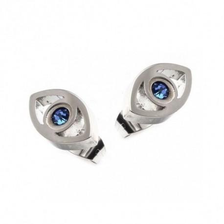 S'gapò orecchini acciaio a occhio di rha - SDY28