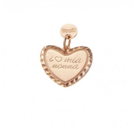 Stroili - Love Beats Charm in Arg Rosè Diamantato La Nonna Perfetta - 1623332