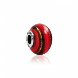 Tedora  - Charm in Argento e Vetro di Murano Red Dragon -  MG253