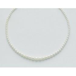 Miluna - Collana Perle Con Chiusura In Oro Bianco 18kt - PCL2210
