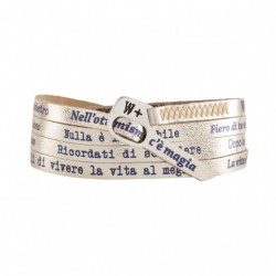 We Positive - Bracciale  Italians  Colore Oro - IT012