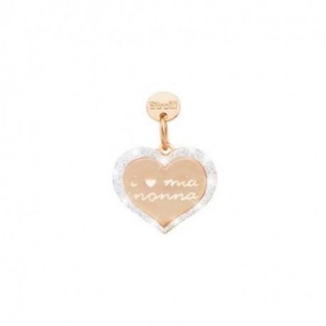 Stroili - Charm  in Argento 925 Rosè e Glitter -Amore Di Nonna - 1629647