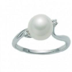 Miluna - Anello Perla e Diamanti - PLI1333X