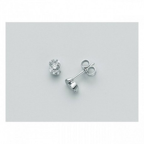 Miluna  - Orecchini Oro Bianco n.2 Diamanti - ERD1390
