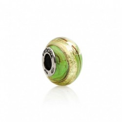 Tedora  - Charm in Argento e Vetro di Murano Oro D'Autunno -  MG203