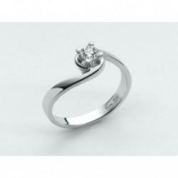 Miluna - Anello Oro Bianco Diamante Solitario  - LID1419-D14