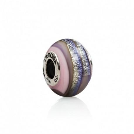 Tedora  - Charm in Argento e Vetro di Murano Multicolor -  MG271