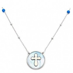 Amen - Collana Donna In Arg 925 E Madreperla Blu - CLMPBBL