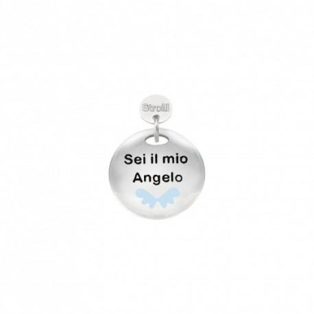 Stroili -Charm in Argento 925 Rodiato e Smalto - Sei Il Mio Angelo - 1629639