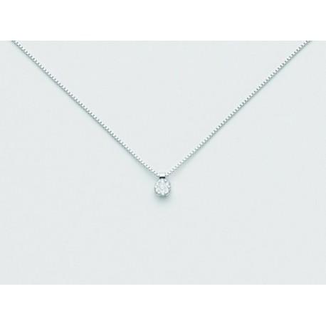 Miluna - Girocollo  In Oro Bianco  Con Diamanti- CLD2717