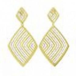 Stroili - Orecchini in Argento Dorato e Glitter Linea Vanitè - 1617827
