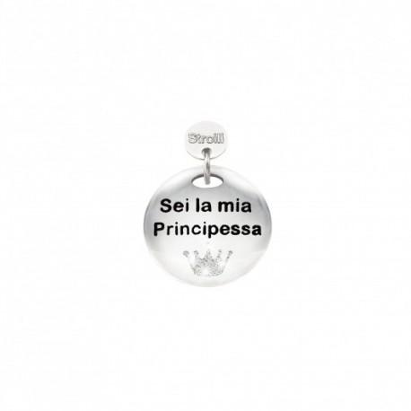 Stroili - Charm in Argento 925 Rodiato e Smalto - Sei La Mia Principessa-1629636