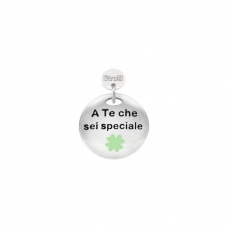 Stroili - Charm in Argento 925 Rodiato e Glitter - A Te Che Sei Speciale - 1629637