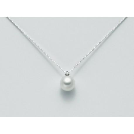 Miluna - Collana Oro Bianco 18kt Perla e Diamanti -  PCI657BM-2V5
