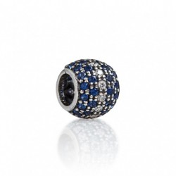 Tedora  - Charm in Argento 925 Pavé Blu & Bianco - IP032