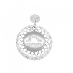 Stroili - Love Beats Charm in argento rodiato e glitter- bilancia- 1623248