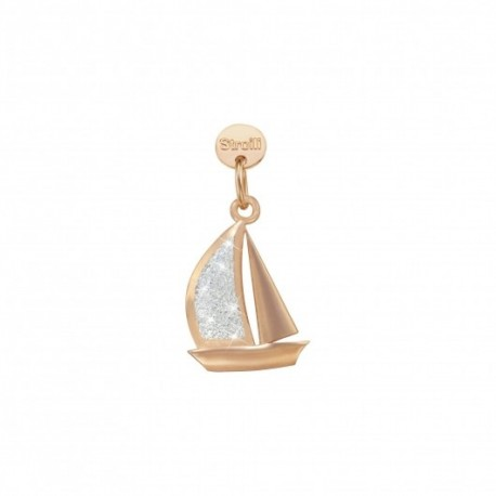 Stroili - Charm  in Argento 925 Rosè e Glitter - Verso L'Orizzonte - 1629603