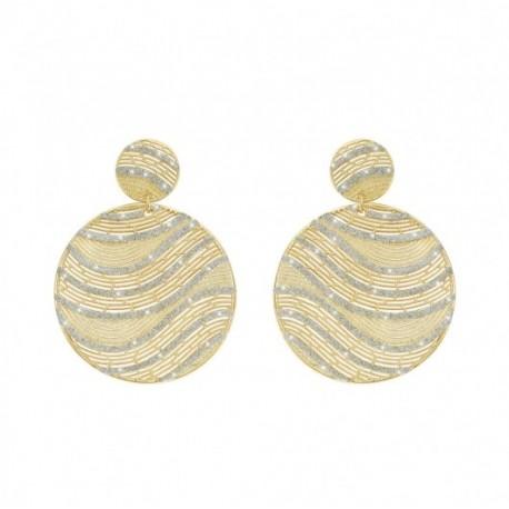 Stroili - Orecchini Mimosa Glitter Ottone Dorato-1622149