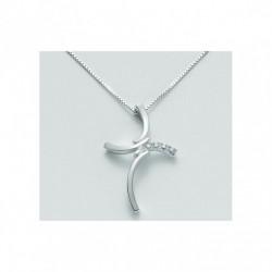 Miluna - Croce Oro Bianco e Diamanti - CLD1839