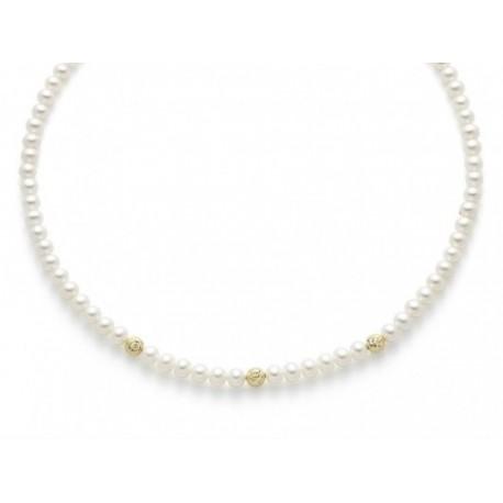 Miluna  - Collana  Perle e Oro - PCL4982G