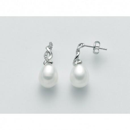 Miluna - Orecchini Perle e Diamanti - PER2103