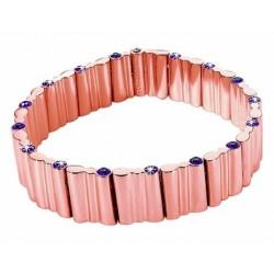 Morellato - Bracciale Semirigido Donna Acciaio IP Oro Rosa Cristalli - OB14