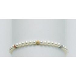 Miluna - Bracciale Donna  Perle Oro 3 Colori - PBR836