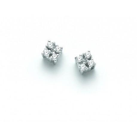 Orecchini Miluna Con Diamanti Naturali 0.08ct In Oro Bianco 18kt  - ERD907