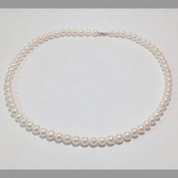 Miluna -  Girocollo di Perle e Oro Bianco 18kt -  PCL4198