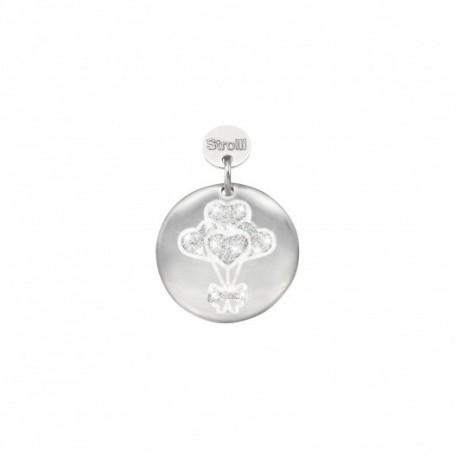 Charm Stroili in argento 925 rodiato e glitter Un sogno realizzato - 1629594