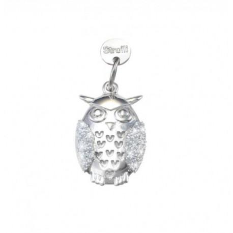 Stroili Love Beats Charm in argento rodiato e glitter - Tutti i sogni si avverano -162327