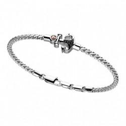 Bracciale Zancan in argento e ancora in spinelli neri - EXB766-B