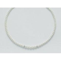 Miluna - Collana in Oro e Diamanti con Perle - PCL3082