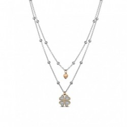 Ops object - Collana  acciaio e glitter -OPSCL-372