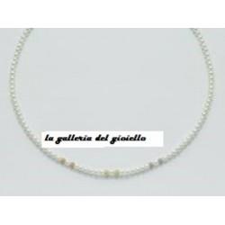 Miluna - Collana Donna Perle Oro 3 Colori - PCL1007