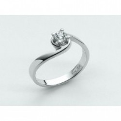 Miluna - Anello Oro Bianco Diamante Solitario -  LID1419-D21