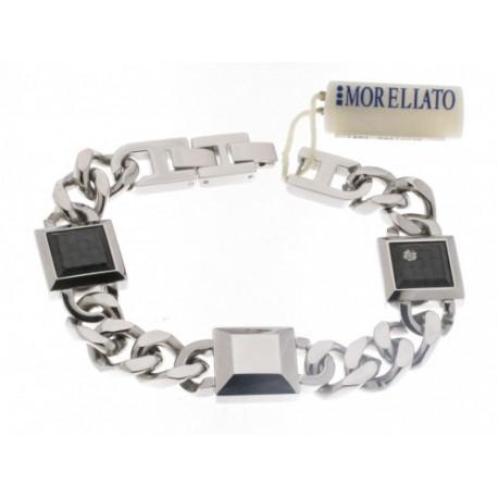 Morellato - Bracciale Blade Acciaio Carbonio e Diamante Naturale - S01L502B