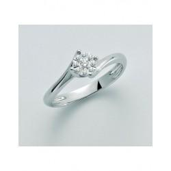 Miluna  - Anello Oro Bianco 18Kt Diamanti - LID3276