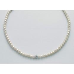 Miluna - Collana Perle e Oro Bianco   -PCL5517