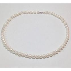 Miluna  - Collana Perle e Oro Bianco 18 kt  -  PCL4199