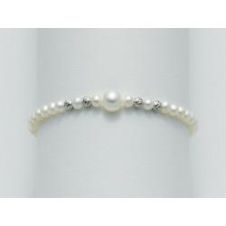 Miluna - Bracciale Perle e Oro Bianco - PBR1557X