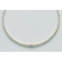 Miluna - Collana Perle e Oro Bianco - PCL3990X