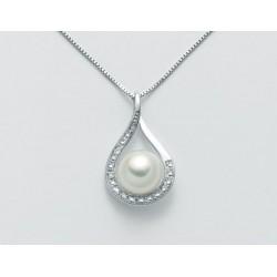 Miluna - Collana Oro Perle e Diamanti - PCL5169x
