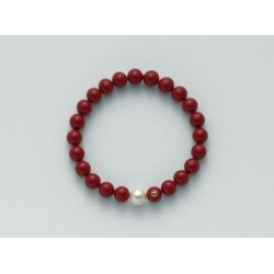 Miluna - Bracciale di Corallo Rosso e perla - PBR1799