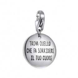 S'agapò - Charm Happy Medaglia Incisa - SHA208