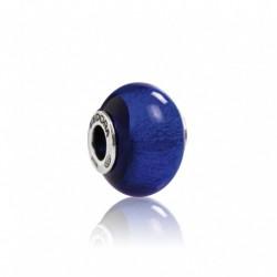 Tedora  - Charm in Argento e Vetro di Murano Blu di Murano -  MG245
