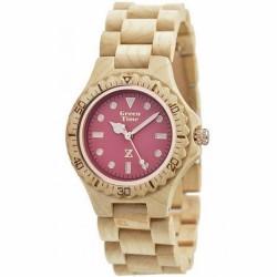 Zzero -Orologio Legno Wood Watch Green Time - ZW009B