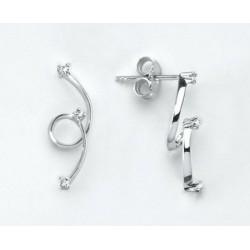 Miluna - Orecchini Oro Bianco e Diamanti - ERD851