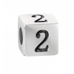 """Stroili - Elemento Componibile Uomo""""Numero 2"""" In Acciaio e Smalto Man Code - 1661392"""
